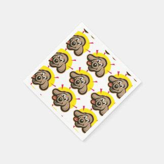 Happy and bright dog face cartoon paper napkin