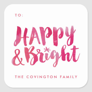 Happy and Bright Gift Tag Sticker