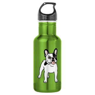 Happy and Fun Single Hooded Pied Frenchie 532 Ml Water Bottle