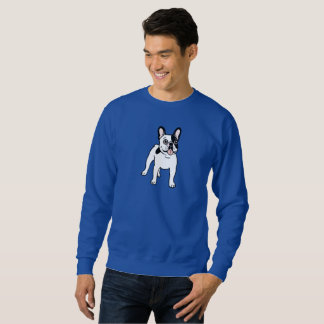 Happy and Fun Single Hooded Pied Frenchie Sweatshirt