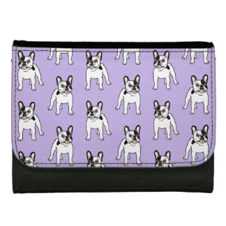Happy and Fun Single Hooded Pied Frenchie Wallets For Women