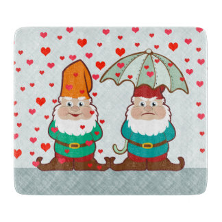 Happy and Grumpy Gnomes Cutting Board