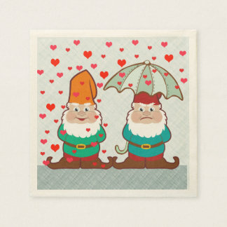 Happy and Grumpy Gnomes Paper Napkins