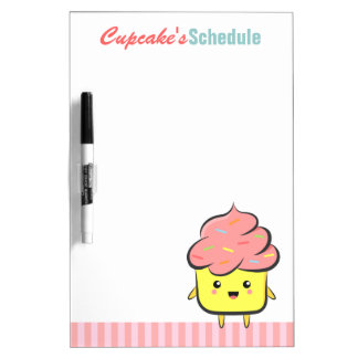 Happy and Kawaii cupcake with colorful sprinkles Dry Erase Whiteboard