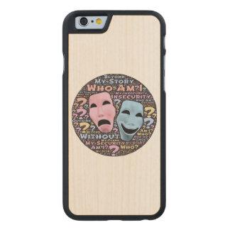 Happy and sad masks cartoon carved® maple iPhone 6 slim case