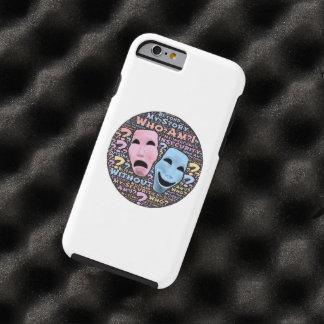 Happy and sad masks cartoon tough iPhone 6 case