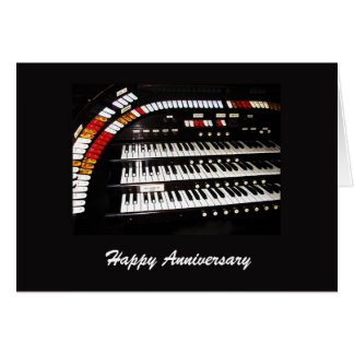 Happy Anniversary, Ancient Organ Card