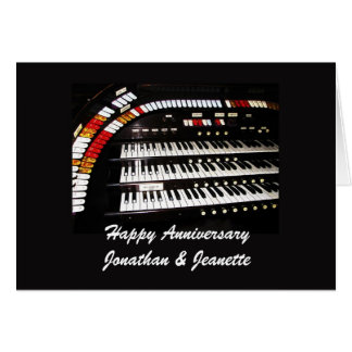 Happy Anniversary, Ancient Organ Greeting Card