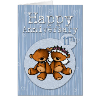 happy anniversary bears - 11 year card