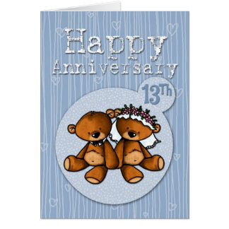 happy anniversary bears - 13 year card