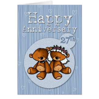 happy anniversary bears - 27 year card