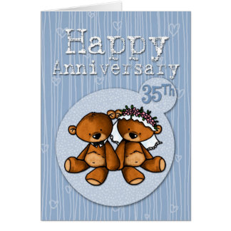 happy anniversary bears - 35 year card