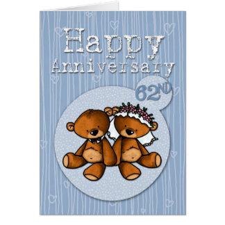 happy anniversary bears - 62 year card
