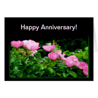 Happy Anniversary-Black Rose Trail Greeting Card
