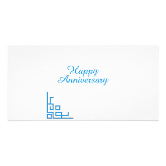 Happy Anniversary Blue Photo Cards