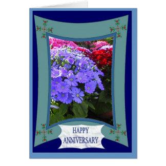 Happy Anniversary, Brilliant purple Card