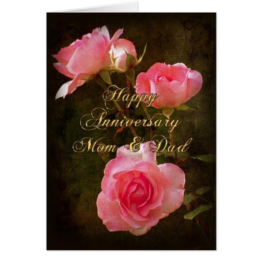 Happy anniversary card mom and dad zazzle