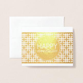 Happy Anniversary CinderStripe Foil Card