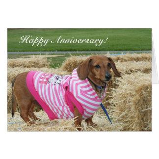 Happy Anniversary Dachshund greeting card