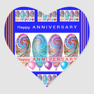 Happy ANNIVERSARY :Editable text Let CHANGE Heart Sticker