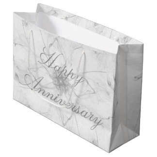 Happy Anniversary Flower Design Bag