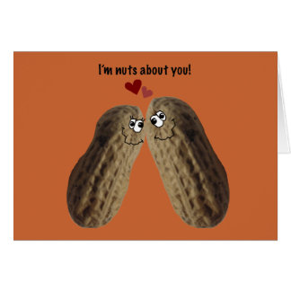 """Happy Anniversary! """"I'm nuts about you!"""" Greeting Card"""