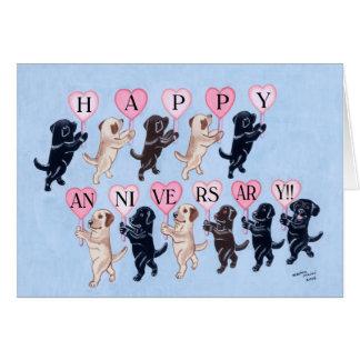 Happy Anniversary Labradors Card