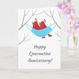 Happy Anniversary Love Birds Mask Card