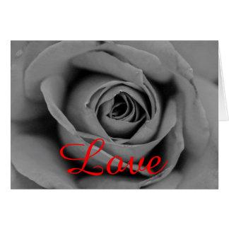 "Happy Anniversary  ""Love"" Monochromatic Rose Card"