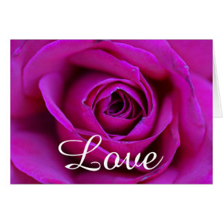 "Happy Anniversary  ""Love"" Rose Greeting Card"
