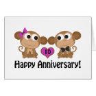 Happy Anniversary Monkeys Card