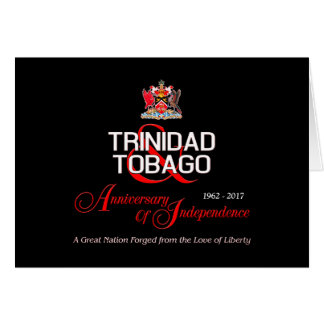 Happy Anniversary of Independence T&T Card