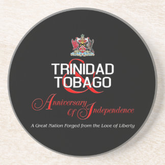 Happy Anniversary of Independence T&T Coaster