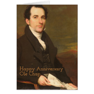 Happy Anniversary Ole Chap Gentleman Reading Card