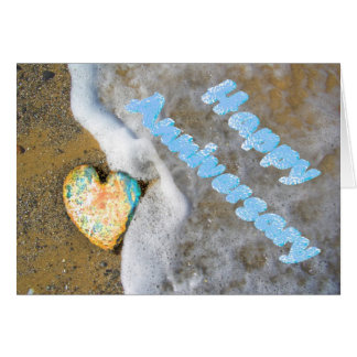 Happy Anniversary opal love heart Card