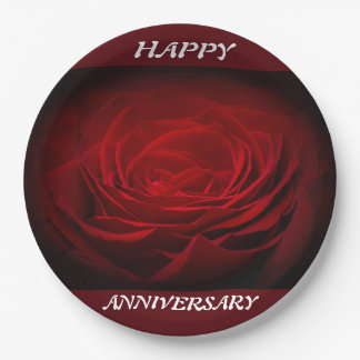 Happy Anniversary paper plates 9 Inch Paper Plate