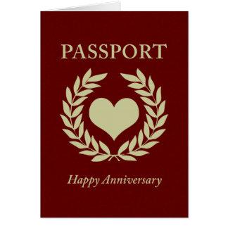 happy anniversary passport card