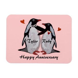 Happy Anniversary Penguin Love Premium Magnet