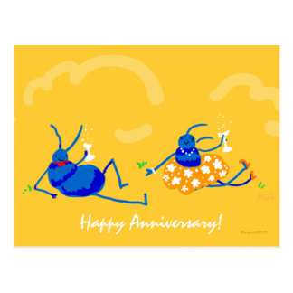 happy anniversary! postcard