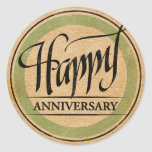 Happy Anniversary Round Sticker