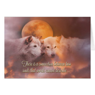 Happy Anniversary Soulmate Wolves Card