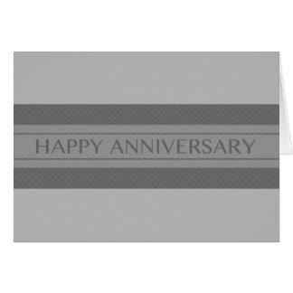 happy anniversary stripe card