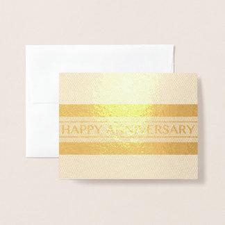 Happy Anniversary Stripe Foil Card
