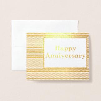 Happy Anniversary Stripes Foil Card