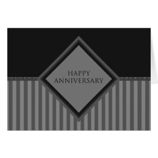 happy anniversary stripes greeting card