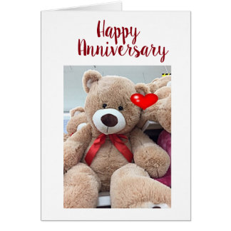 HAPPY ANNIVERSARY TO MY ***FAVORITE TEDDYBEAR*** CARD