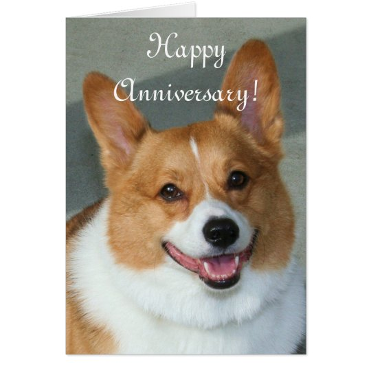 Happy Anniversary Welsh Corgi Greeting card