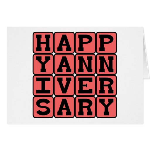 Happy Anniversary, Yearly Occasion Card