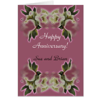 Happy Anniversay Customizable Cards