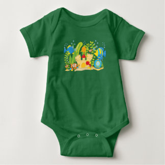 Happy Aquarium Fish Baby Bodysuit